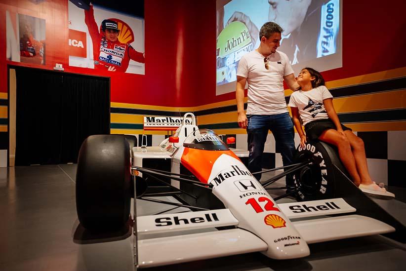 O ídolo Ayrton Senna tem um espaço especial no atrativo - Foto Divulgação.